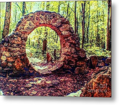 The Portal To Love Life Peace 1 Metal Print by Becky Lupe
