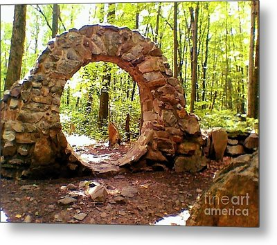The Portal To Love Life Peace Metal Print by Becky Lupe