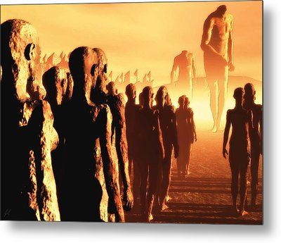 The Post Apocalyptic Gods Metal Print