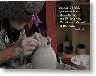 The Potter's Hand Metal Print by Natalie Ortiz