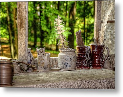 The Potter's Window Metal Print by Donna Doherty