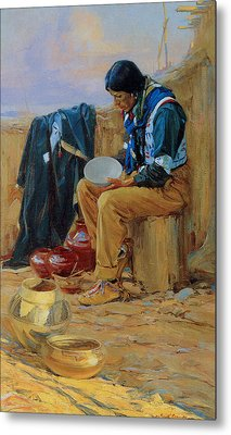 The Pottery Maker Metal Print by Gerald Cassidy