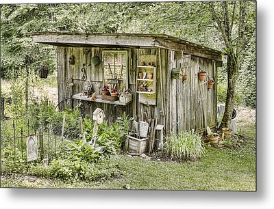 The Potting Shed Metal Print by Heather Applegate