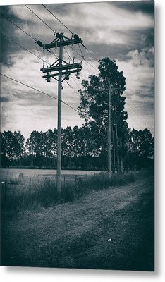 The Power Lines  Metal Print