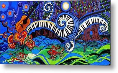 The Power Of Music Metal Print by Genevieve Esson