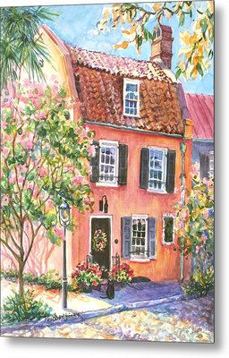 The Precious Pink House Metal Print by Alice Grimsley