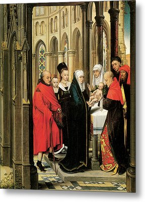 The Presentation In The Temple Metal Print by Hans Memling