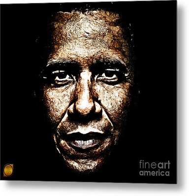 The President Metal Print by The DigArtisT