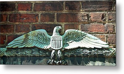 The Presidential Eagle Guards Dumbarton House Metal Print by Cora Wandel