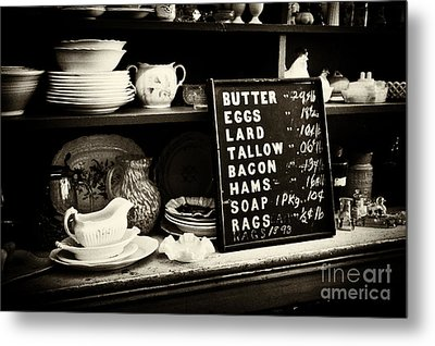 The Price List Metal Print by Paul W Faust -  Impressions of Light