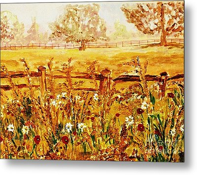 The Prince Of Wales Wild Flower Fields Metal Print