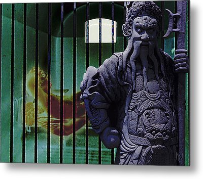 The Prisoner And His Guardian Metal Print by Nafets Nuarb
