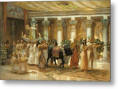 The Procession Of The Sacred Bull Metal Print