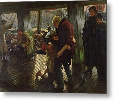 The Prodigal Son In Modern Life Metal Print by James Jacques Joseph Tissot