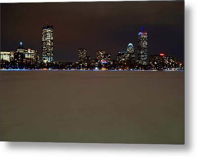 The Pru Lit Up In Red White And Blue For The Patriots Metal Print by Toby McGuire