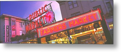 The Public Market Seattle Wa Usa Metal Print by Panoramic Images
