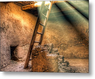 The Pueblo Cermonial Room Metal Print by Anna Rumiantseva