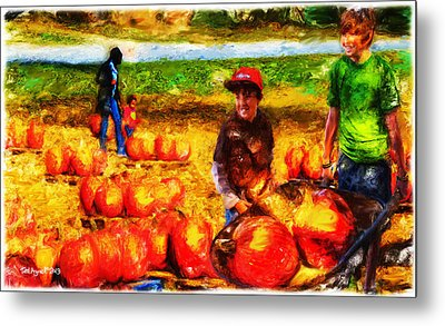 The Pumpkin Patch Metal Print