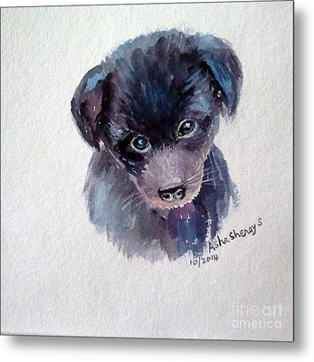 The Puppy Metal Print