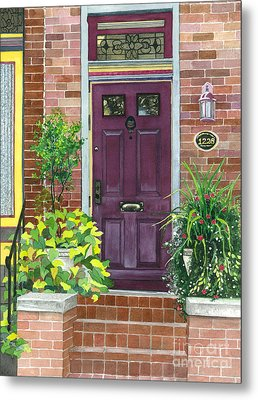 The Purple Door Metal Print by Barbara Jewell