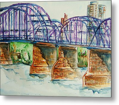 The Purple People Bridge Metal Print