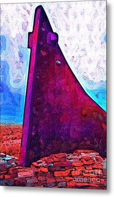 The Purple Pink Wedge Metal Print