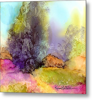 The Purple Tree Metal Print by Karen Mattson