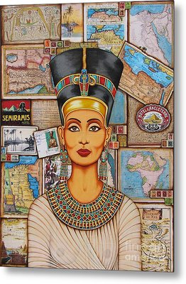Metal Print featuring the painting The Queen Of Amarna by Joseph Sonday