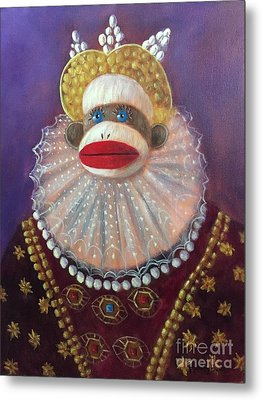 Metal Print featuring the painting The Proud Queen by Randol Burns