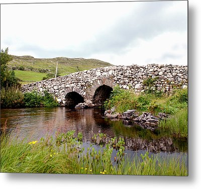 The Quiet Man Bridge Metal Print by Charlie and Norma Brock