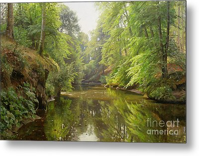 The Quiet River Metal Print by Peder Monsted