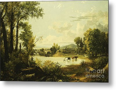 The Quiet Valley Metal Print by Jasper Francis Cropsey