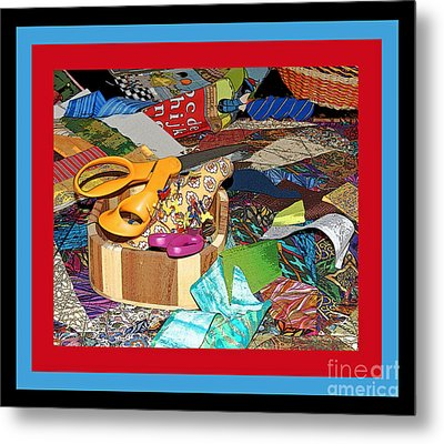 The Quilters Table Metal Print