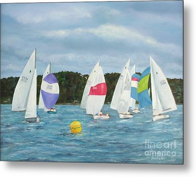 The Race Metal Print by Jackie Hill