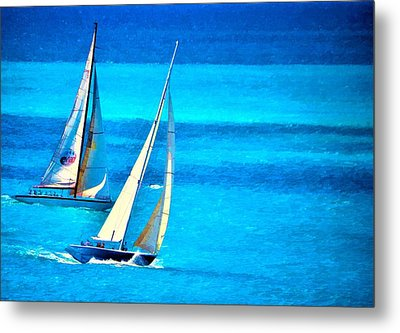 Metal Print featuring the photograph The Race by Pamela Blizzard
