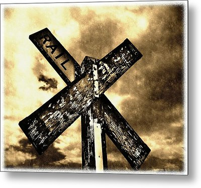 The Railroad Crossing Metal Print by Glenn McCarthy Art and Photography