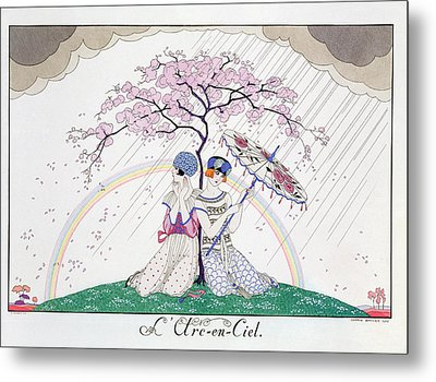 The Rainbow Metal Print by Georges Barbier