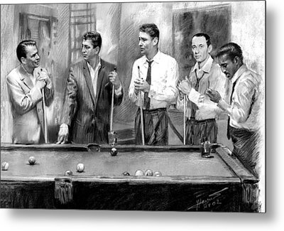 The Rat Pack Metal Print by Viola El