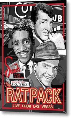 The Rat Pack Poster Metal Print by Dagmara Czarnota