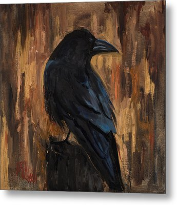 The Raven Metal Print by Billie Colson