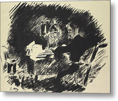The Raven Metal Print by Edouard Manet