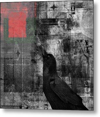 The Raven - Nevermore Metal Print by Douglas MooreZart
