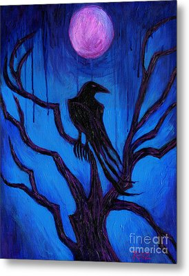 The Raven Nevermore Metal Print