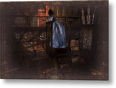 The Reader 07013101 - By Kylie Sabra Metal Print by Kylie Sabra