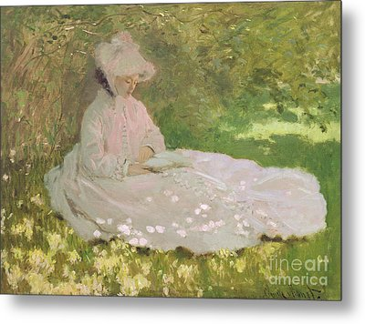 The Reader  Metal Print by Claude Monet