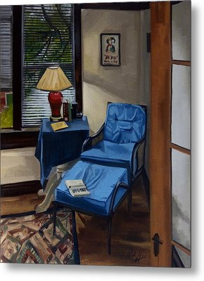The Reading Corner Metal Print