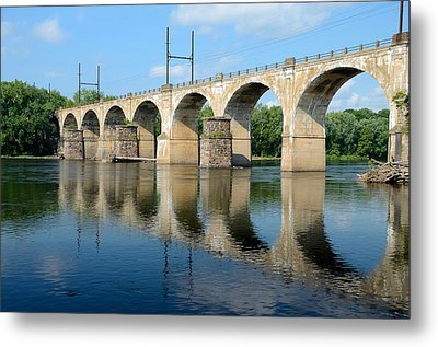 The Reading Csx Railroad Bridge At Ewing Metal Print