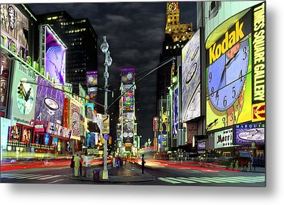 The Real Time Square Metal Print by Mike McGlothlen
