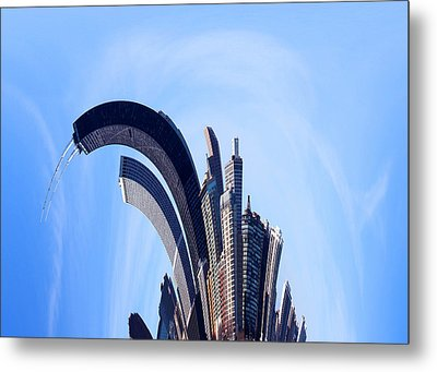 The Real Windy City - Chicago Metal Print by James Hammen