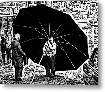 The Really Big Umbrella Metal Print by Jeff Breiman